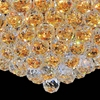 "Picture of 24"" Primo Transitional Round Crystal Flush Mount Ceiling Chandelier Gold Plated 12 Lights"