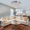 "Picture of 24"" Primo Transitional Round Crystal Flush Mount Ceiling Chandelier Polished Chrome 12 Lights"