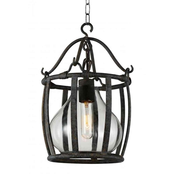 "Picture of 25"" 1 Light Down Pendant with Antique Black finish"