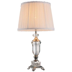"25"" 1 Light Table Lamp with Brushed Nickel finish"
