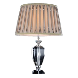 "25"" 1 Light Table Lamp with Chrome finish"