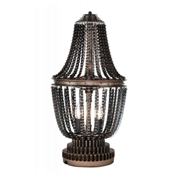 "25"" 2 Light Table Lamp with Antique Bronze finish"