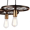 "Picture of 25"" 3 Light Down Chandelier with Black & Gold finish"