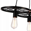 "Picture of 25"" 3 Light Down Chandelier with Black finish"