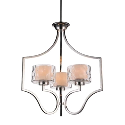 """25"""" 3 Light Drum Shade Chandelier with Chrome finish"""