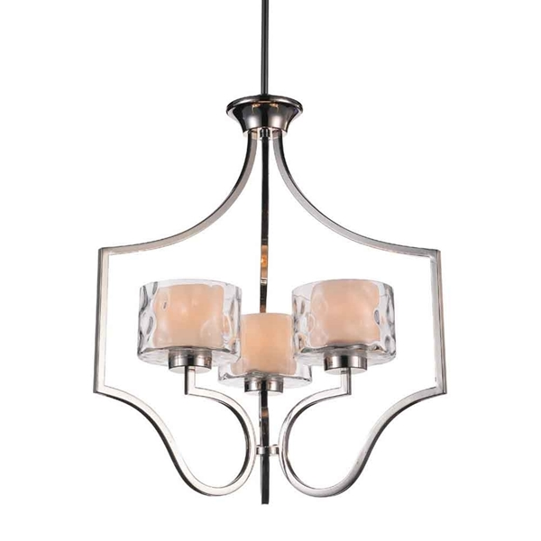 """Picture of 25"""" 3 Light Drum Shade Chandelier with Chrome finish"""