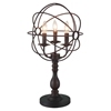 """Picture of 25"""" 3 Light Table Lamp with Brown finish"""