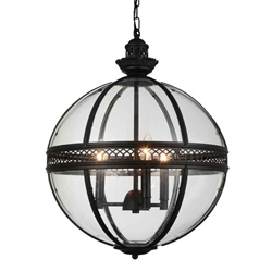 """25"""" 3 Light Up Chandelier with Black finish"""
