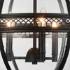 """Picture of 25"""" 3 Light Up Chandelier with Black finish"""