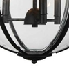 "Picture of 25"" 3 Light Up Chandelier with Black finish"