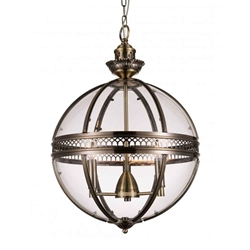 """25"""" 3 Light Up Chandelier with Bronze finish"""