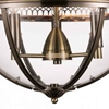 """Picture of 25"""" 3 Light Up Chandelier with Bronze finish"""
