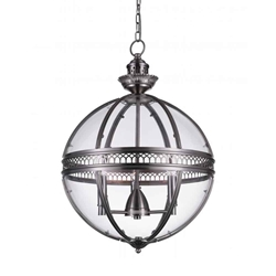 """25"""" 3 Light Up Chandelier with Satin Nickel finish"""