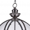 "Picture of 25"" 3 Light Up Chandelier with Satin Nickel finish"