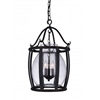 """Picture of 25"""" 3 Light Up Pendant with Antique Black finish"""