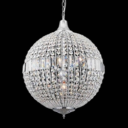 """25"""" 4 Light  Chandelier with Chrome finish"""
