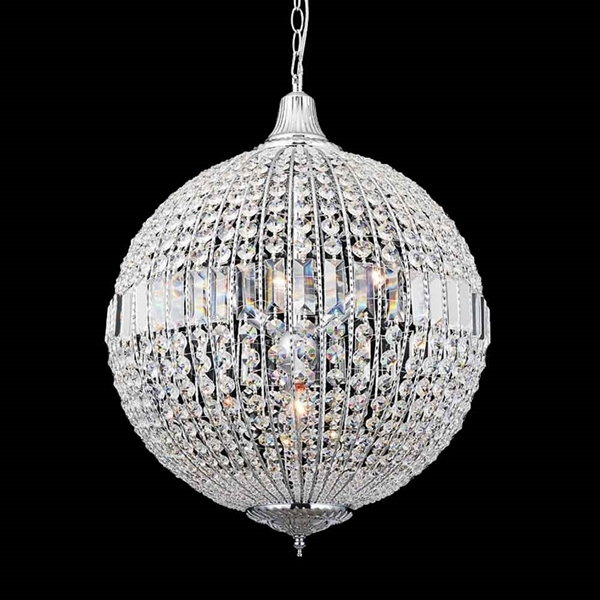 """Picture of 25"""" 4 Light  Chandelier with Chrome finish"""