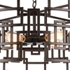 "Picture of 25"" 4 Light Down Chandelier with Brown finish"