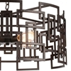 """Picture of 25"""" 4 Light Down Chandelier with Brown finish"""