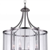 "Picture of 25"" 4 Light Drum Shade Pendant with Satin Nickel finish"