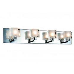 """25"""" 4 Light Wall Sconce with Chrome finish"""