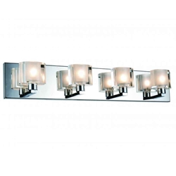 "25"" 4 Light Wall Sconce with Satin Nickel finish"