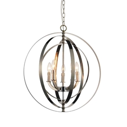 """25"""" 5 Light Up Chandelier with Chrome finish"""