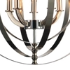 "Picture of 25"" 5 Light Up Chandelier with Chrome finish"