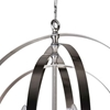 """Picture of 25"""" 5 Light Up Chandelier with Satin Nickel finish"""