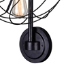 """Picture of 25"""" 5 Light Wall Sconce with Black finish"""