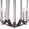 "Picture of 25"" 6 Light Candle Chandelier with Brownish Silver finish"