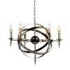 "Picture of 25"" 6 Light Up Chandelier with Antique Bronze finish"
