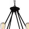 "Picture of 25"" 6 Light Up Chandelier with Black  finish"