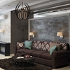 "Picture of 25"" 6 Light Up Chandelier with Rust finish"