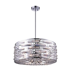 """25"""" 8 Light Drum Shade Chandelier with Chrome finish"""