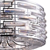 "Picture of 25"" 8 Light Drum Shade Chandelier with Chrome finish"