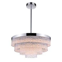 """25"""" 9 Light Down Chandelier with Chrome finish"""