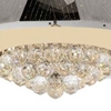 "Picture of 25"" 9 Light Down Chandelier with Chrome finish"