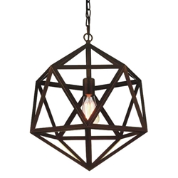 """26"""" 1 Light Down Pendant with Antique Copper finish"""