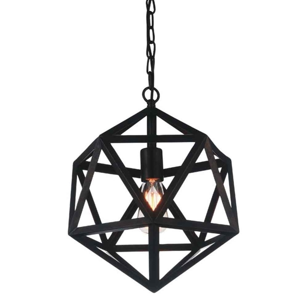 "Picture of 26"" 1 Light Down Pendant with Black finish"