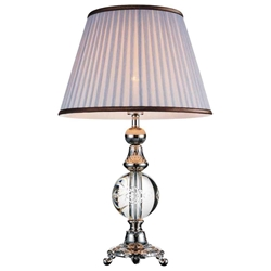 "26"" 1 Light Table Lamp with Brushed Nickel finish"