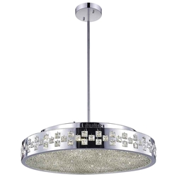 """26"""" 10 Light Down Chandelier with Chrome finish"""