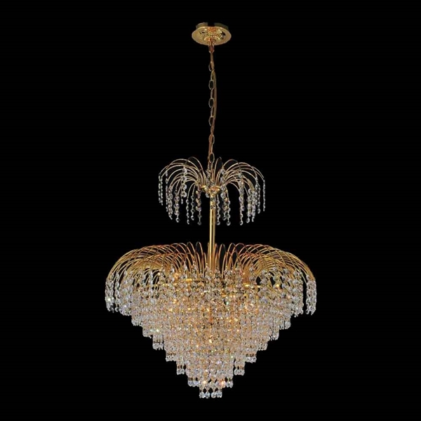 "Picture of 26"" 11 Light Down Chandelier with Gold finish"