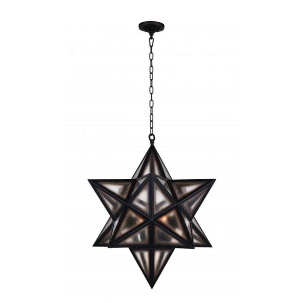 """Picture of 26"""" 3 Light  Pendant with Black finish"""