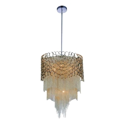 "26"" 4 Light Drum Shade Chandelier with Chrome finish"