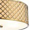 """Picture of 26"""" 4 Light Drum Shade Chandelier with French Gold finish"""