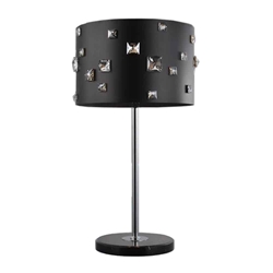 """26"""" 4 Light Table Lamp with Black finish"""