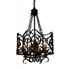 "Picture of 26"" 4 Light Up Chandelier with Autumn Bronze finish"