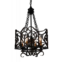 """26"""" 4 Light Up Chandelier with Autumn Bronze finish"""