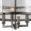 """Picture of 26"""" 4 Light Up Chandelier with Black Silver finish"""